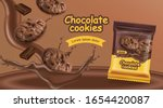 chocolate cookies vector... | Shutterstock .eps vector #1654420087