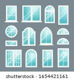 set of various isolated white... | Shutterstock .eps vector #1654421161