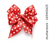 Polka Dot Red Ribbon Bow...