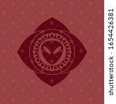 alien icon inside red emblem....   Shutterstock .eps vector #1654426381