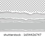 a piece of torn  white...   Shutterstock .eps vector #1654426747