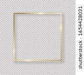 realistic golden  frame on... | Shutterstock .eps vector #1654428031