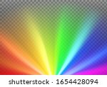 rays with rainbow colors... | Shutterstock .eps vector #1654428094
