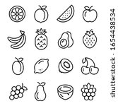 fruits icons set. collection of ... | Shutterstock .eps vector #1654438534
