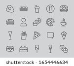a simple set of fast food icons ... | Shutterstock .eps vector #1654446634