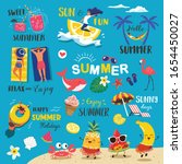 summer labels  logos  hand... | Shutterstock .eps vector #1654450027
