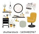 stylish hair salon interior.... | Shutterstock .eps vector #1654482967