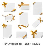 collection of various note card ... | Shutterstock . vector #165448331