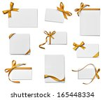 collection of various note card ... | Shutterstock . vector #165448334