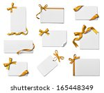 collection of various note card ... | Shutterstock . vector #165448349