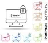 lock by password pc in multi...