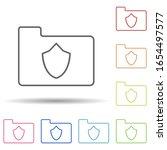 shield in folder in multi color ...