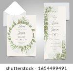 greenery wedding invitation... | Shutterstock .eps vector #1654499491