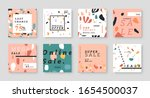 trendy sale template collection ... | Shutterstock .eps vector #1654500037