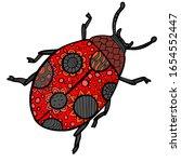 ladybug beetle vector...   Shutterstock .eps vector #1654552447