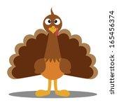 cute cartoon thanksgiving... | Shutterstock .eps vector #165456374