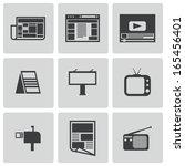 vector black advertisement... | Shutterstock .eps vector #165456401