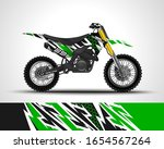 motorcycle wrap decal and vinyl ...   Shutterstock .eps vector #1654567264