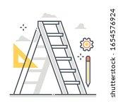 ladder related color line... | Shutterstock .eps vector #1654576924