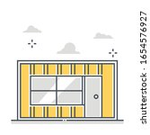 container house related color... | Shutterstock .eps vector #1654576927