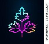 cilantro in nolan style icon....