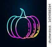 pumpkin in nolan style icon....   Shutterstock .eps vector #1654588264