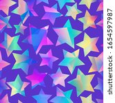 holographic star seamless... | Shutterstock .eps vector #1654597987