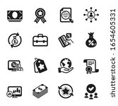 set of finance icons  such as...   Shutterstock .eps vector #1654605331