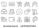 set of business icons  such as... | Shutterstock .eps vector #1654605364
