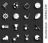 set of vector sport icons in...   Shutterstock .eps vector #165461144