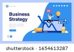 web page design with business...