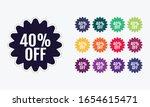 40  discount price off. sale... | Shutterstock .eps vector #1654615471