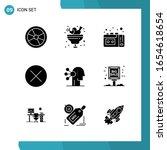vector pack of 9 glyph symbols. ... | Shutterstock .eps vector #1654618654