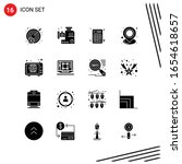 collection of 16 vector icons... | Shutterstock .eps vector #1654618657