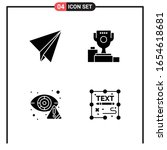 set of 4 solid style icons for... | Shutterstock .eps vector #1654618681