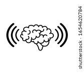 telepathy icon on white... | Shutterstock .eps vector #1654620784