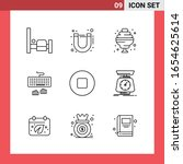 9 icon pack line style outline... | Shutterstock .eps vector #1654625614