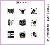 9 icons in solid style. glyph... | Shutterstock .eps vector #1654625617