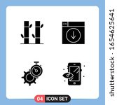 4 solid black icon pack glyph... | Shutterstock .eps vector #1654625641