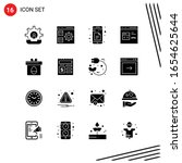 collection of 16 vector icons... | Shutterstock .eps vector #1654625644