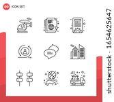 pack of 9 universal outline... | Shutterstock .eps vector #1654625647