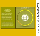 world vector icon design 10 eps ... | Shutterstock .eps vector #1654626871