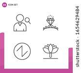 outline icon set. pack of 4... | Shutterstock .eps vector #1654629484