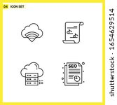 4 icon set. simple line symbols.... | Shutterstock .eps vector #1654629514