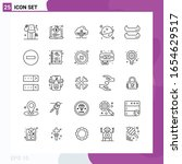 line icon set. pack of 25... | Shutterstock .eps vector #1654629517