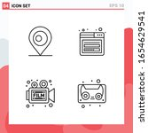 collection of 4 vector icons in ... | Shutterstock .eps vector #1654629541