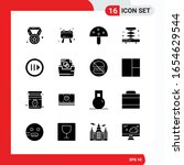 creative set of 16 universal... | Shutterstock .eps vector #1654629544