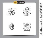 4 black icon pack outline... | Shutterstock .eps vector #1654633387