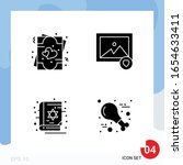 modern pack of 4 icons. solid... | Shutterstock .eps vector #1654633411