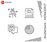 collection of 4 vector icons in ... | Shutterstock .eps vector #1654633417